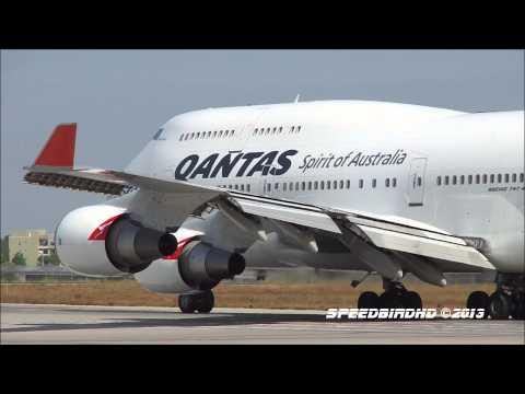 Qantas Airways Boeing 747-438(ER) [VH-OEJ] CLOSE UP Takeoff