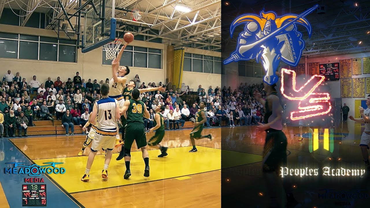Vermont Lamoille Union High School vs. Peoples Academy Boys Varsity Basketball Game Video Highlights