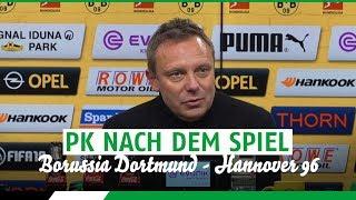 PK nach dem Spiel | Borussia Dortmund - Hannover 96