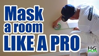 How to mask off a room for painting