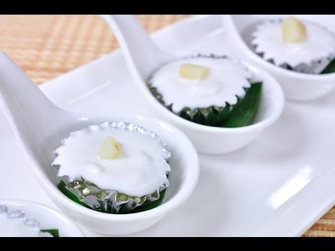 [Thai Dessert] Thai Pudding with Coconut topping (Ta – Go Sago Sai Haew)