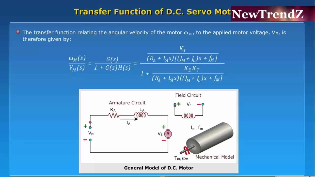Transfer Function Of Dc Servo Motor Youtube Diagram