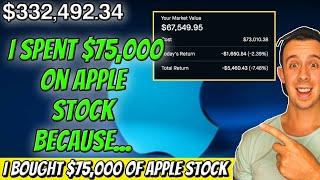 My $75,000 Bet On Apple Stock! Robinhood Investing