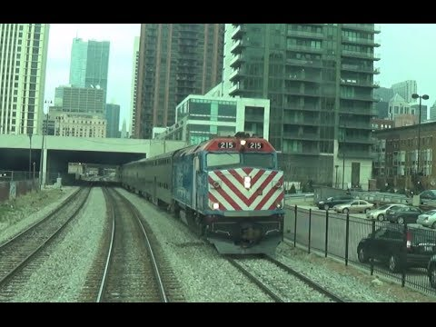 Metra Cab Car Ride arriving Chicago Union Station -5/7/14 from YouTube · Duration:  4 minutes 54 seconds