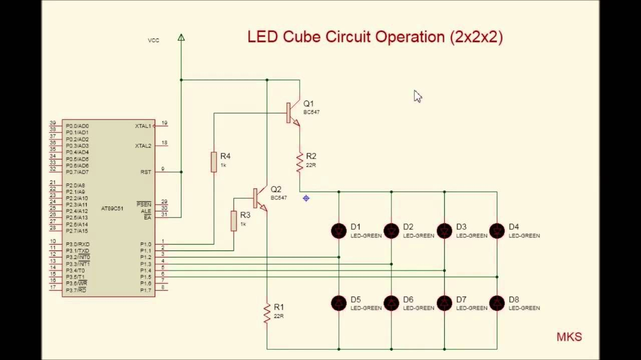 small resolution of circuit diagram of 8x8x8 rgb led cube