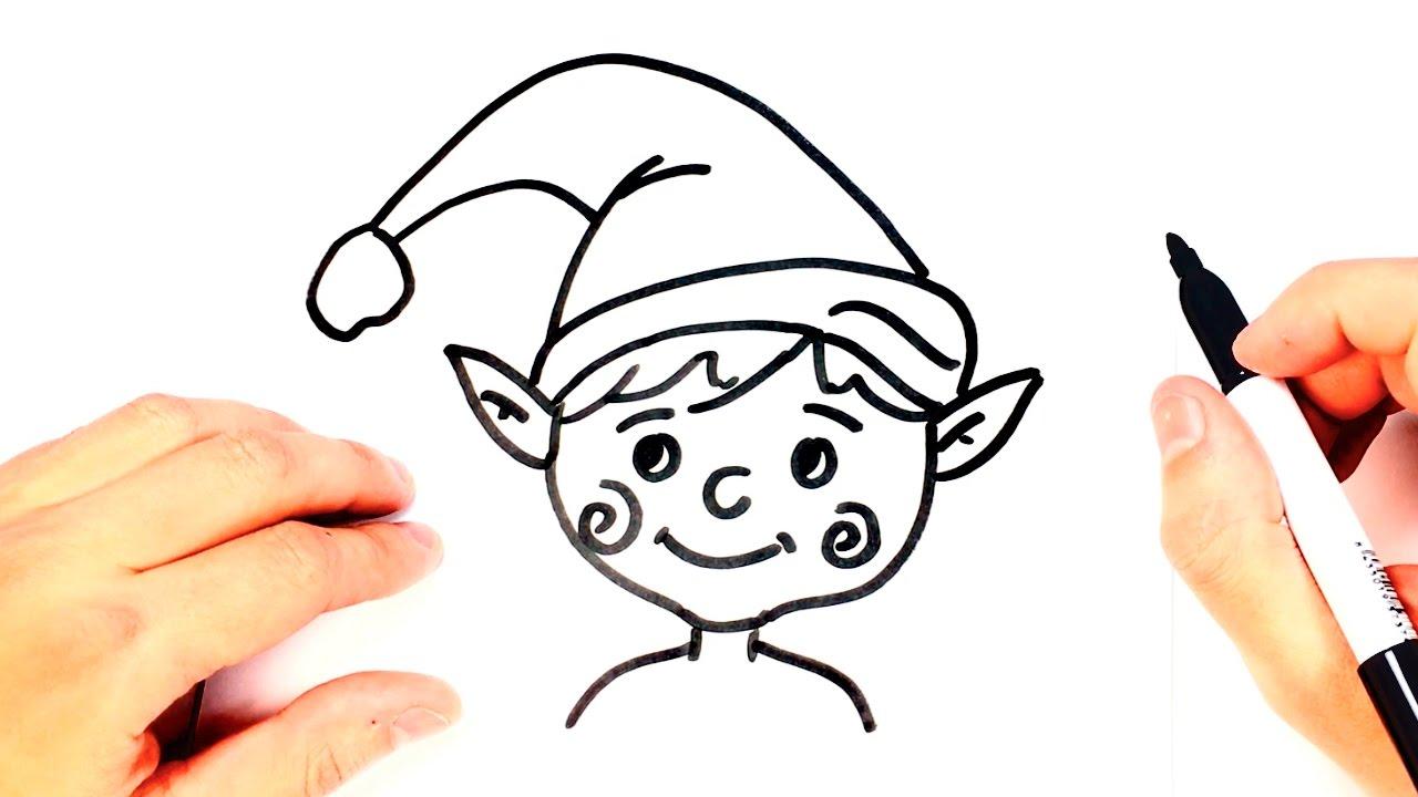 Como dibujar un Duende para niños | Dibujo de Duende paso a paso ...