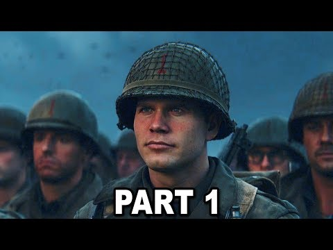 Call of Duty WW2 Gameplay Walkthrough Part #1 - D-Day (COD WW2 Campaign)