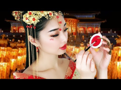 [ASMR] Chinese Princess Does Your Peach Blossom Makeup