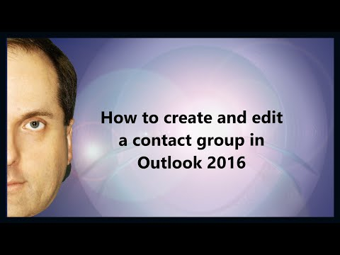 How to create and edit a contact group in Outlook 2016