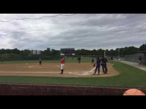 Montana with hit and Syd's double brings Montana in to score in  2016 at Carterville Home fields