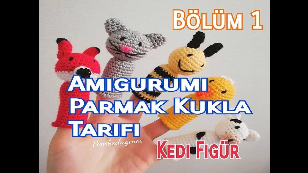 Amigurumi Parmak Kukla Yapımı (Kedi Figür Parmak Kukla)