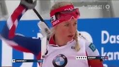 Damen Verfolgung 10 km Biathlon WM  Oslo 2016