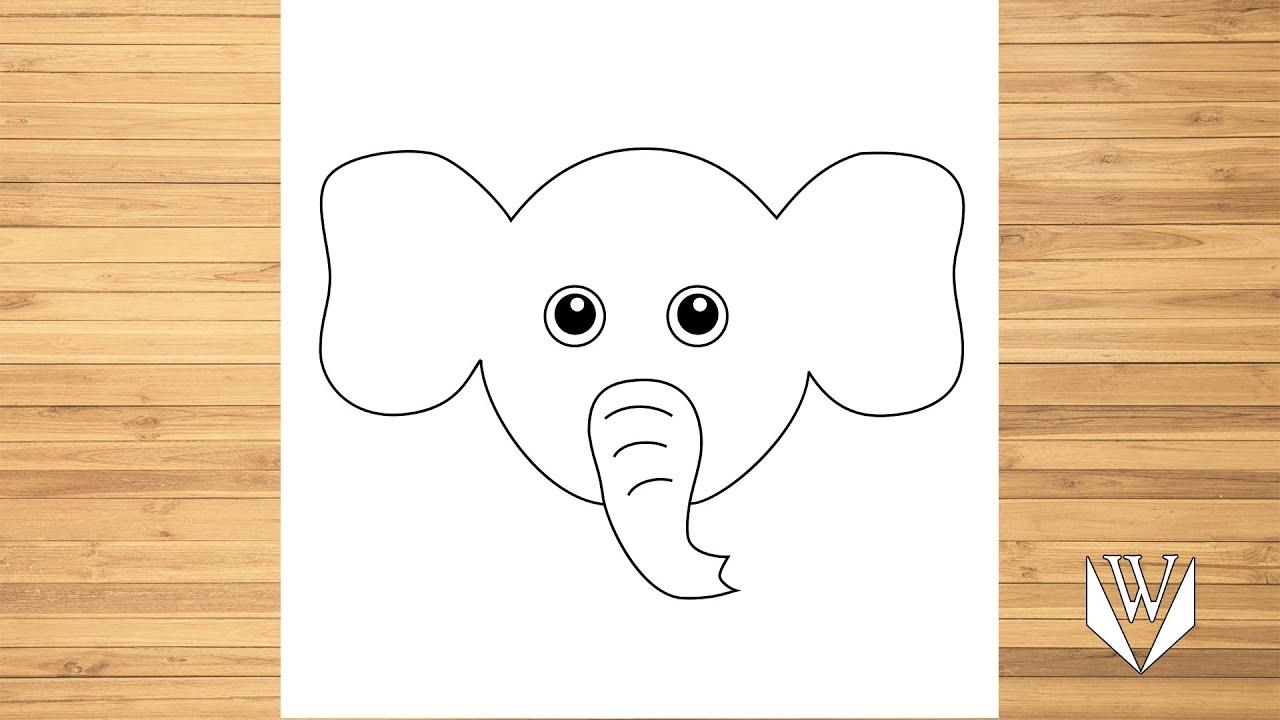 Wie Zeichnet Man Niedlich Elefant Gesicht Schritt Fur Schritt Kostenloser Download Malvorlagen Youtube