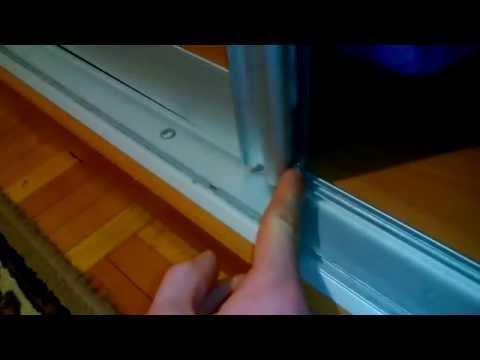 Как починить дверь шкафа купе видео