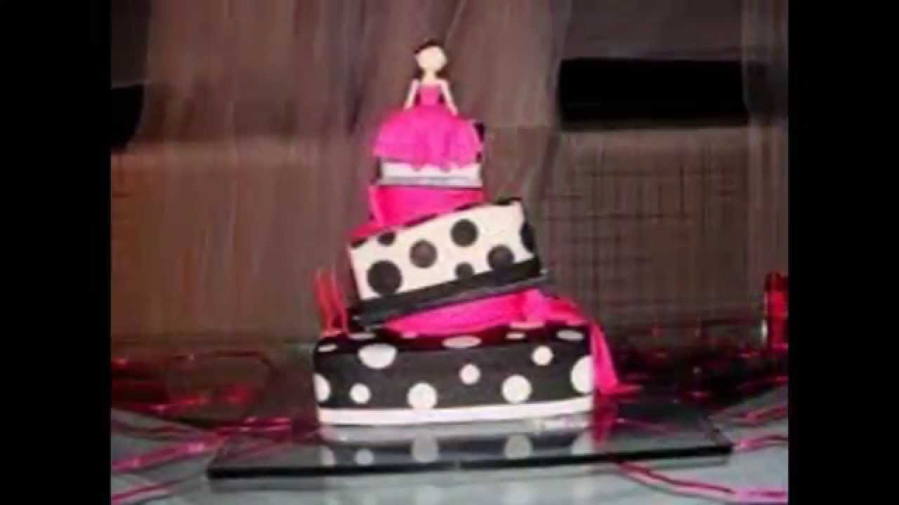 Bolos para festa de 15 anos youtube for Ornamentacion de 15 anos
