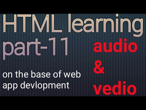 HTML Audio And Video Tag Tutorial#html