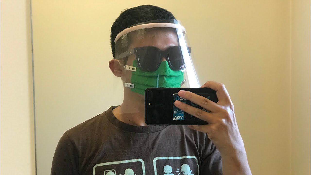 How to make your own surgical mask and face shield alternative 如何自制手術口罩和面罩