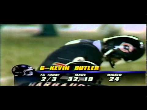 1991 Kevin Butler Missed Gw Fg CHICAGO BEARS Vs MIAMI DOLPHINS