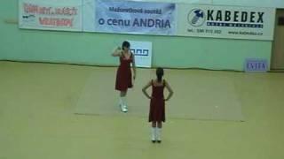 Mažoretky Pusinky-Míša Večerková a Anežka Smištíková,duo-Havířov 2009.mpg