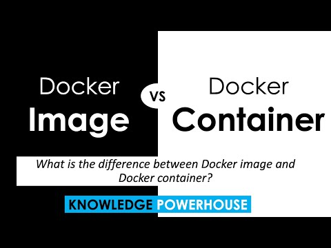 What is the difference between Docker image and Docker container?