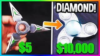 $5 FIDGET SPINNER Vs. $10,000 FIDGET SPINNER! (Insane!)
