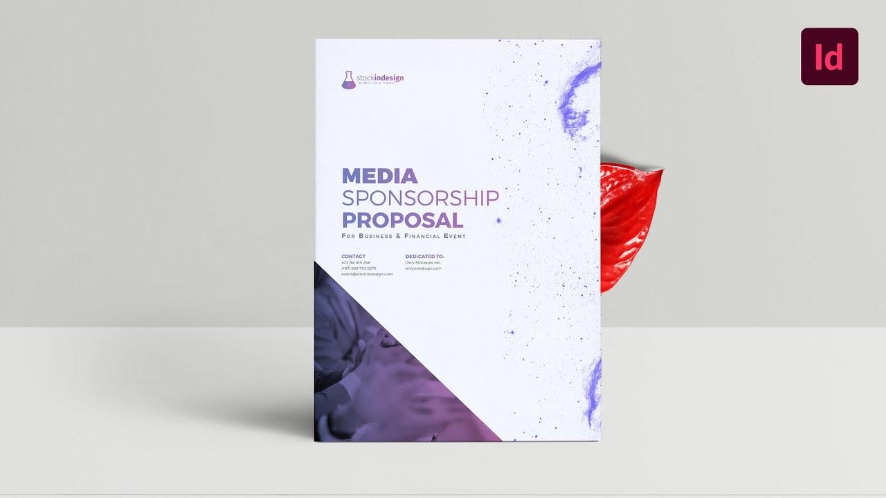 media sponsorship proposal indesign template