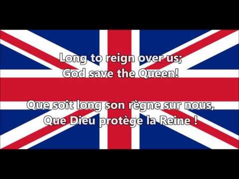 God Save the Queen - Que Dieu protège la Reine (EN,FR lyrics/paroles)