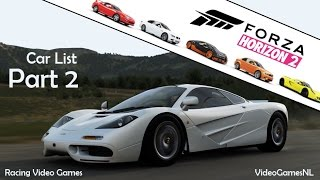 Forza Horizon 2 | Car List Part 2 [Over 70 New Cars Officially Revealed!] | Xbox One