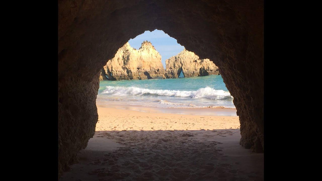 Alvor Algarve Portugal Amazing Beach Praia Dos Tres Irmaos