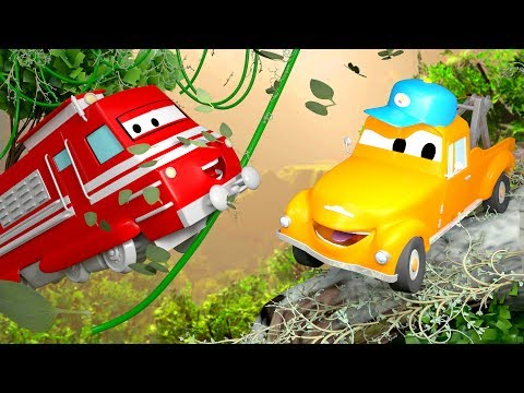 Tom the Tow Truck's Car Wash and Troy the Train | Truck cartoons for kids