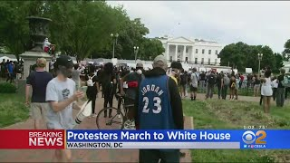 Protests Against Deadly Arrest Lock Down White House; Car Burned Outside CNN