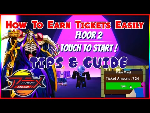 How to cleared Dungeon 2 (OVERLORD) & earn Tickets Easily   Anime Fighting Simulator   ROBLOX  