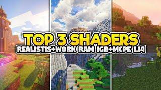 TOP 3 SHADERS RIALISTIS, NO LAG, WORK MCPE V 1.14!!!