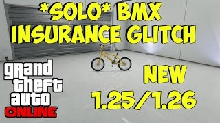 "GTA 5 Online- *SOLO* ""STORE & INSURE BMX in Car Slot"" 1.25/1.26"