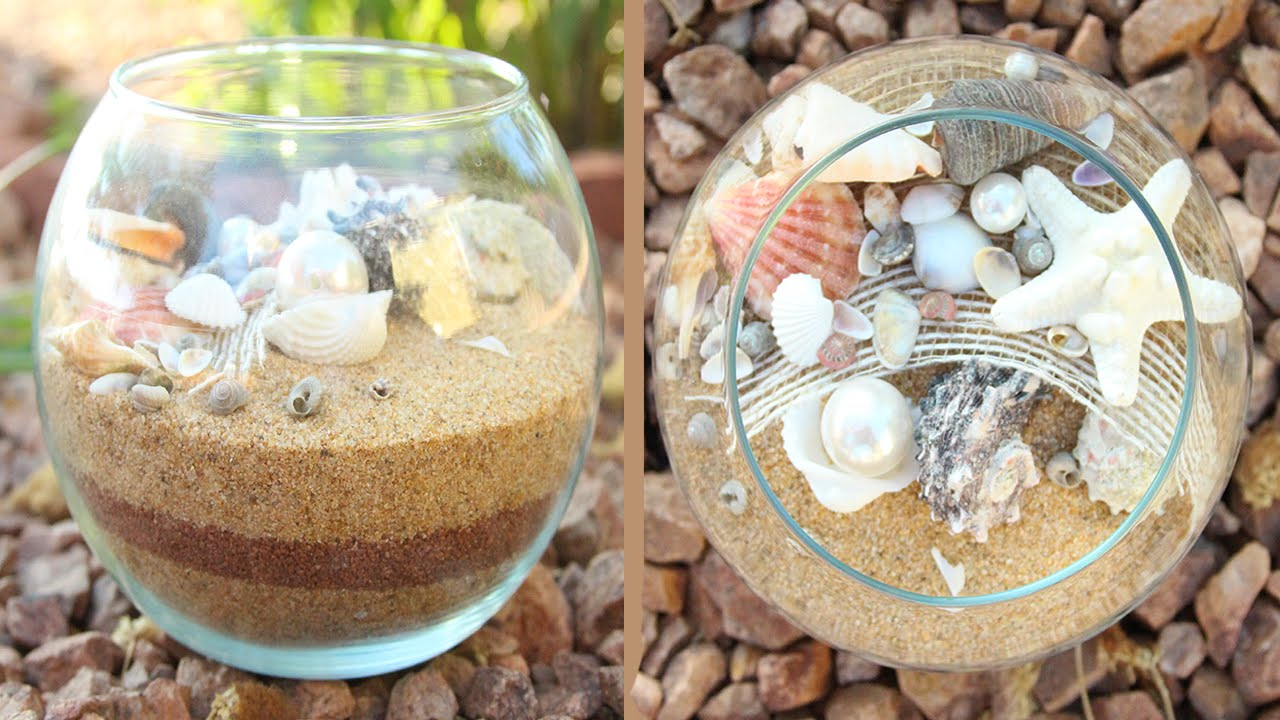 Seashell Centerpiece Diy Youtube