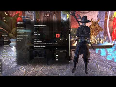 My addons' settings for ESO (Magicka Nightblade PvE)