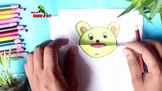Funny Drawing Trick for Kids ✅ Folded Paper Drawing Tutorial