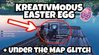 Creative Mode Easter Egg + Under the Map Glitch | Fortnite Battle Royale