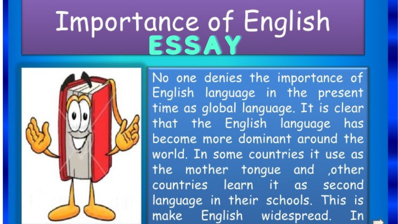 Essay writing on importance of English language||write an essay on importance of english language||