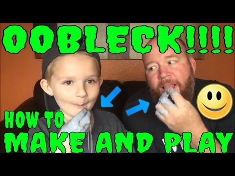 OOBLECK FUN! Make And Play With Dr. Seuss Oobleck Slime Non-Newtonian Fluid Review How-to Recipe