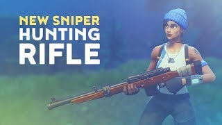 NEW SNIPER: HUNTING RIFLE GAMEPLAY! (Fortnite Battle Royale)