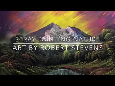 The Joy of Spray - Spray Painting Nature Art by Robert Stevens