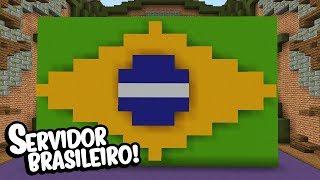 Minecraft: JOGANDO EM SERVIDORES BRASILEIROS NOVAMENTE! (BUILD BATTLE)