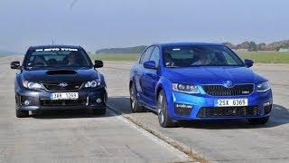 Skoda Octavia RS TSI vs. Subaru WRX STI 2013 - drag race