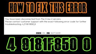 The Crew 2 How to fix the Error 4 9181f850 0