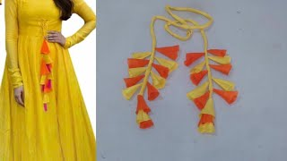 Latkan for kurti or lehenga DIY| how to make tessals/latkan for kurti at home easy step by step