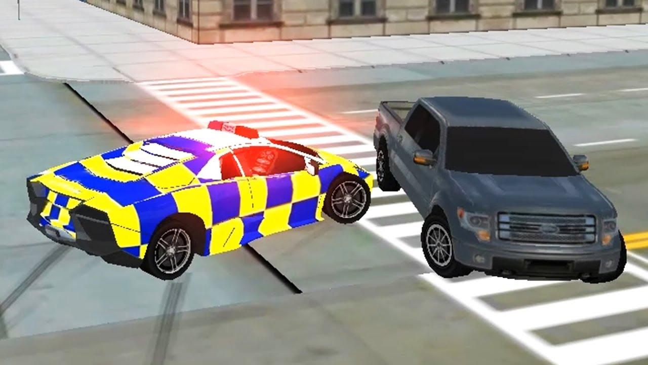 Police Car Driving Motorbike Riding Lamborghini Sport Usa Police