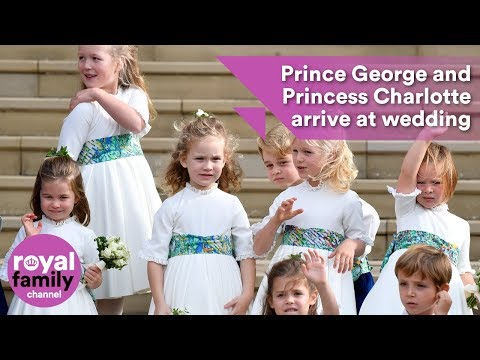 Princess Charlotte and Prince George have arrived at Princess Eugenie's royal wedding