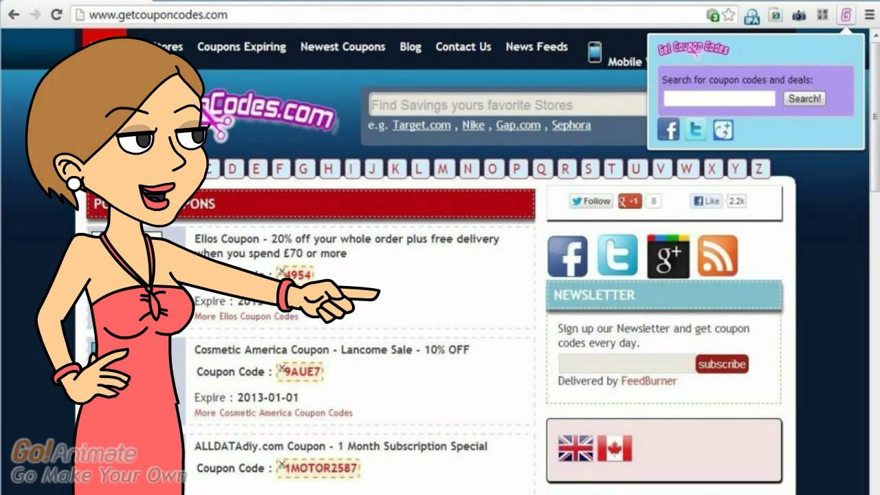 Get Coupon Codes chrome app - YouTube