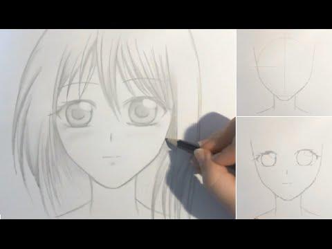 Comment dessiner un visage manga de fille tutoriel - Dessiner fille manga ...